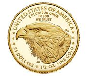 2021-w 1/2 American Eagle One-half Ounce Gold Proof Coin 21ecntype 2 Presale