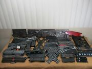 Vintage Lionel And Marx O Scale Railroad Switches 4 Way's Flat Cars Train Bottoms+