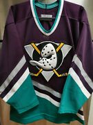 Authentic Anaheim Mighty Ducks Mid 90s Ccm Nhl Hockey Jersey Adult Size 48 Nwot