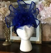 Womenand039s Vintage 1990and039s Blue Sequin Pill Box Style Hat