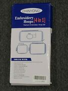 Set Of 4 Embroidery Hoops For Brother Innovis And Baby Lock Sewing Machines