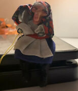 """Vintage 4"""" Scandinavian Good Luck Kitchen Witch By Glasswerks Original Tags"""