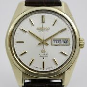 Grand Seiko 61gs Hb 36000 Automatic Menand039s Gold White Dial Outside Belt 6146-8000