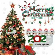2020 Christmas Tree Ornaments Personalized Family Decoration Home Pendant Erm