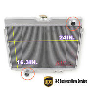 24 3 Core Aluminum Radiator For 1967-1970 Ford Mustang 390 428 429 V8 Gas At/mt