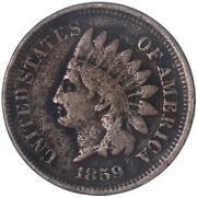 1859 Indian Head Cent Fine Penny See Pics H115