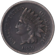 1859 Indian Head Cent Very Fine Penny Dark See Pics H116