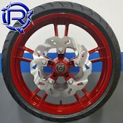 Harley Enforcer Red Take Off Wheel New Tire New Galfer Rotors 08+ Hot Deal