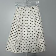 Boden Skirt Size 2p Petite Lola Honey Bee Pleated A Line T0098 Lined