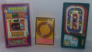 3 Piece Lot Of Vintage Toy Pocket Slot/roulette/pin Ball Hard Plastic Hong Kong