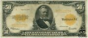 1922 United States 50 Dollars Grant Gold Certificate Speelman White Large Note