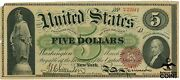 Series 1863 New Series Large Size 5 Legal Tender Us Note Spinner Green Back
