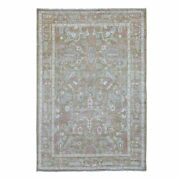 6and039x9and0396 Honey Brown Angora Oushak Hand Knotted Extremely Durable Wool Rug G68306