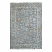 6and039x8and0399 Gray Angora Oushak Soft Organic Wool Hand Knotted Rug G68564