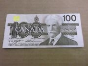1988 Canadian 100. Bill Bank Note Knight Thiessen Bjn5757057 Canada Circulated