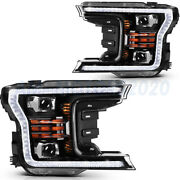 2pcs For Ford F150 2018-up Led Headlights Assembly Reflector Headlamps Pair Set