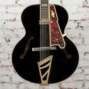 D'angelico B-stock Excel 16 Non-cutaway Hollowbody Style B - Black X1131