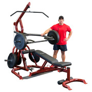 Body-solid Corner Leverage Gym Package With Bench Glgs100p4 Plate Loaded
