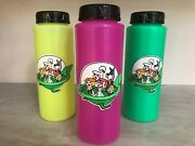 3 Collectible Vintage 1990 Jetsons Water Bottle Hanna Barbera Productions