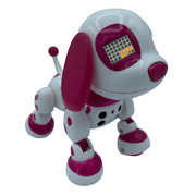 2014 Spinmaster Zoomer Zuppies Puppy Dog Interactive White And Pink Dalmatian