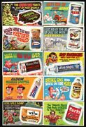 1969 Topps Wacky Ads Complete Set Of 36 Good And Empty High Grade