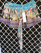 Camilla Gaudi Tribute Shorts 4 Express Size 1 Small Franks Tie Belt Zip Front