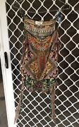 Camilla Tie Front Tassel Empire Top 4 Express Size 1 Small Franks Embellished