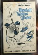 Eleventh Annual Baseball Writers Digest 1968 Signed By Sandy Koufax Drysdale