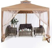 Abccanopy 10'x10'gazebo Tent With Mosquito Netting Outdoor Gazebo Canopy Shelter