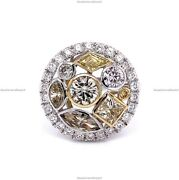 14k Yellow Gold Natural Diamond Trigold Victorian Engagement Ring For Women