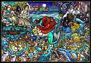1000 Piece Jigsaw Puzzle Little Mermaid Story Stained Glass [pure White] F/s New