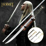 Collectible Stainless Steel The Elves Black Color Elf King Cosplay Dark Sword