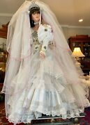 Exquisite Rustie 42 Large Porcelain Doll Bride W/ Veil And Crown- Signed 65/1500