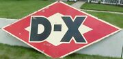 Large Vintage 2 Sided Porcelain Dx Diamond Shaped Sign - Approx 9.5and039 X 5and039