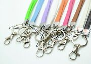 Premium Leather Neck Lanyard With Keychain For Key, Phone, Id Badge Holder