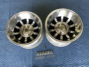 Vintage Pair 2c10 15x10 Real Western Bullet 5on5 4 3/4 4 1/2 Chevy Ford Mopar