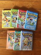 Gently Used Set Lot Of 7 Pokemon Adventures Paperback Books Graphic Novels By