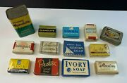 Lot Of 13 Vintage Antique Soap Bars / Packers Tar Tin / Ivory Palmolive Swan