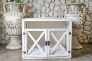 Lynx With Doors Indoor Wood Dog House White Modern Crate Luxury Pet Furniture