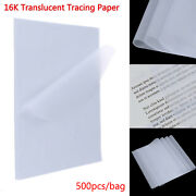 500pcs Lightweight Tracing Paper Artist Drawing Carton Sheet Clear Trace