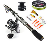 Spinning Fishing Rod And Reel Combos Portable Telescopic Fishing Pole Spinning