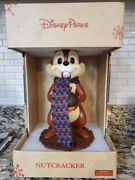 Disney Parks Holiday Christmas Chip And Dale Nutcracker Chip And Dale Set Brand New