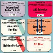 Lot Of 6 Diff. Super Bowl Xxix Press Passes - San Francisco 49ers Chargers Pass