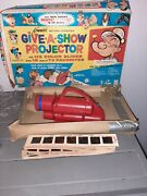 Vintage Toy Give-a-show Projector 1964 Kenner No. 505