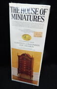 New House Of Miniature Wood Doll Furniture Highboy Chest Dresser Queen Anne