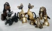 Lot Of 9 Vintage 1950and039s Hagen Renaker From Lady And The Tramp Disney Ss2
