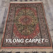 Yilong 4and039x6and039 Handknotted Silk Carpet Home Interior Kid Friendly Area Rug 071m