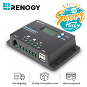 Renogy Wanderer 10a Pwm Solar Charge Controller Common Negative Regulator W/ Lcd