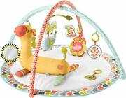 Fisher-price Go Wild Gym And Giraffe Wedge Infant Activity Gym With Large Playm...