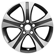 Alloy Wheel 17x7 5 Grooved Spoke Uses Tpms Dark Charcoal Painted W/machined Face
